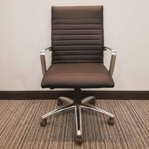 OTG Black Conference Chair with Chrome Details