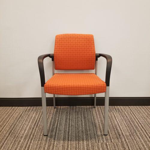 Allsteel Orange Side Chair