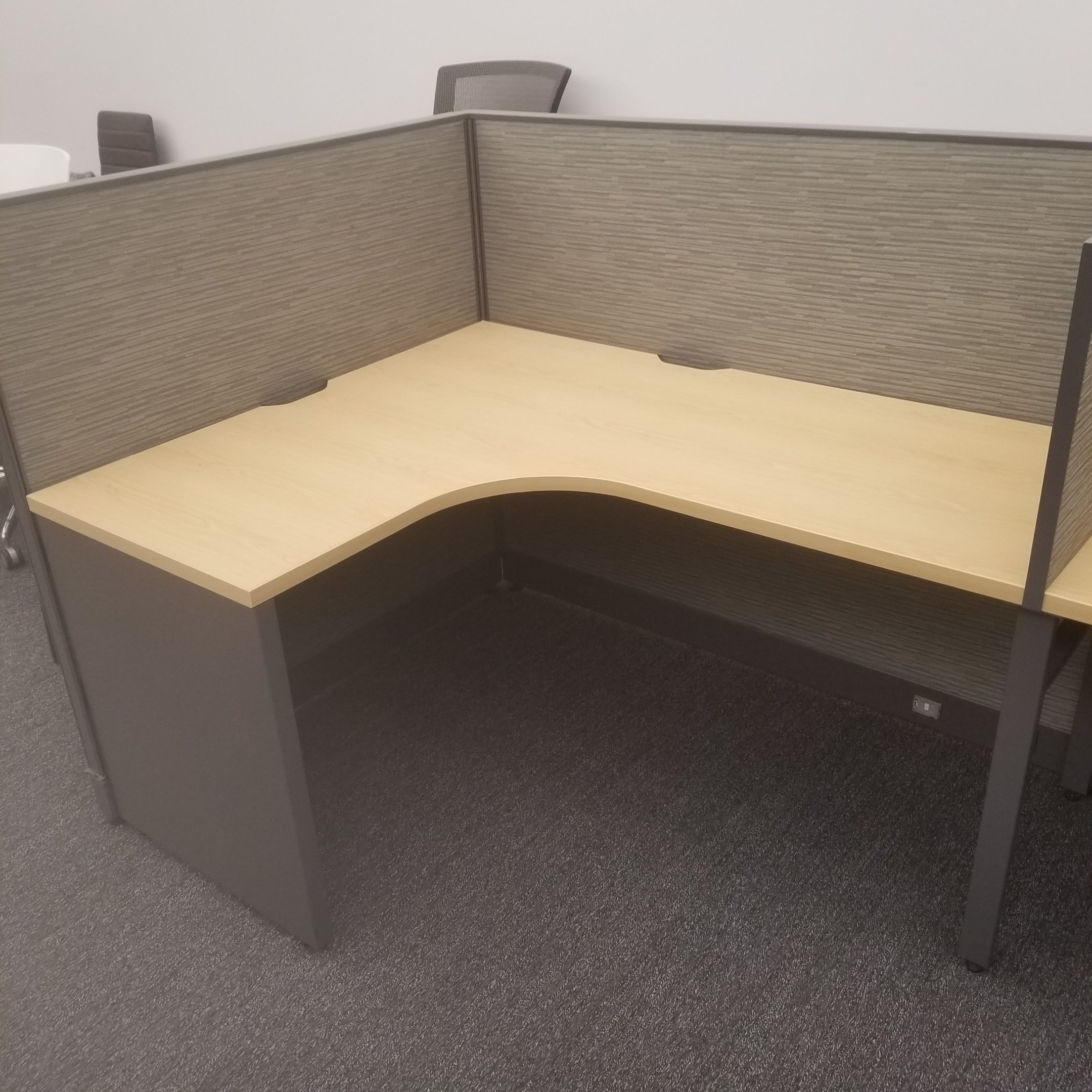 Haworth Unigroup 4'x5′ Workstations Maple and Grey